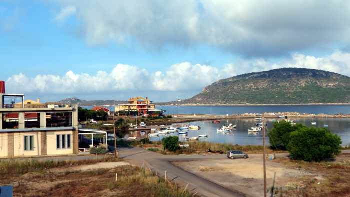 balcony view of harbour and Proti Island
