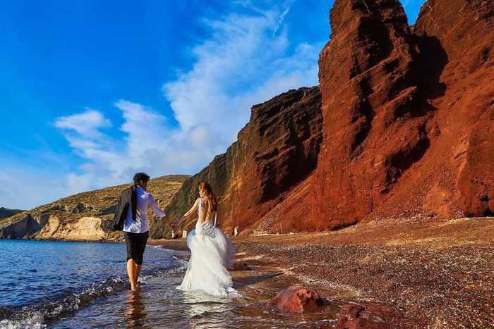 Santorini Red Beach Rockfall Risk My Greece Travel Blog