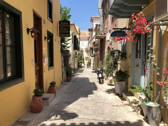 Kapodistriou Street in Nafplio