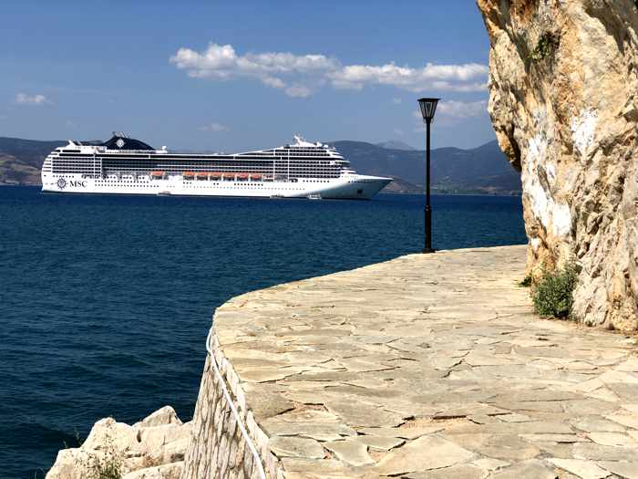 cruise ship at Nafplio