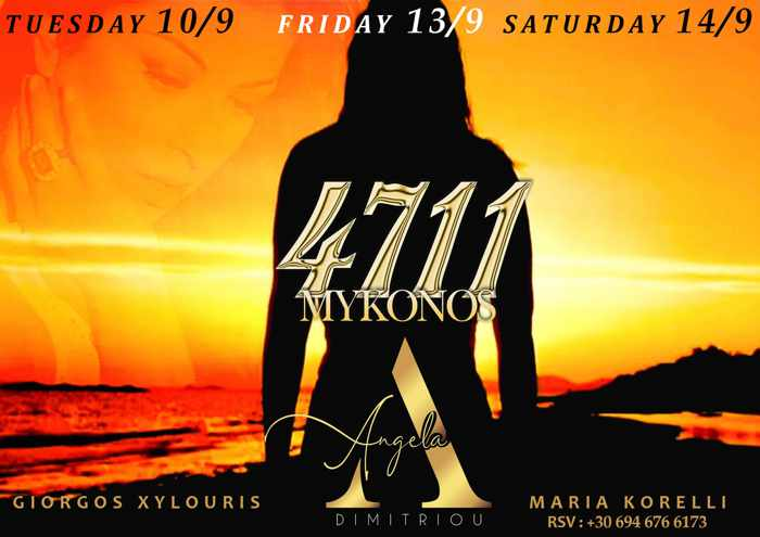 4711 Mykonos season closing parties with Angela Dimitriou