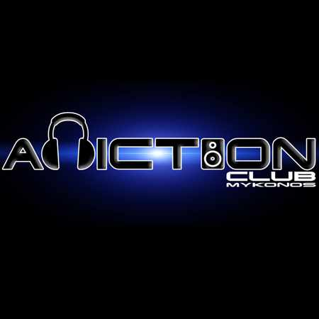 Logo for Addiction nightclub in Mykonos