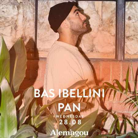 Alemagou beach club Mykonos presents Bas Ibellini on Wednesday August 28