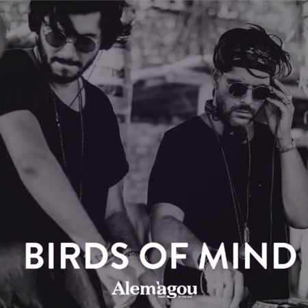 Promotional image for Birds of Mind appearance at Alemagou beach club Mykonos
