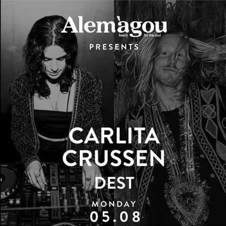 Alemagou beach club Mykonos presents Carlita Crussen & Dest on Monday August 5