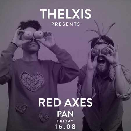 Alemagou beach club Mykonos presents Red Axes and Pan on Friday August 16