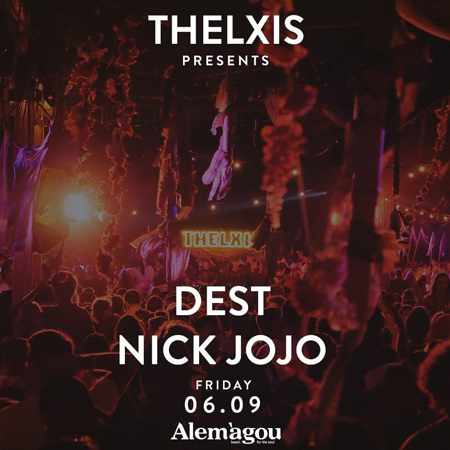 Alemagou beach club Mykonos presents Thelxis party with DJs Dest and Nick Jojo on Friday September 6