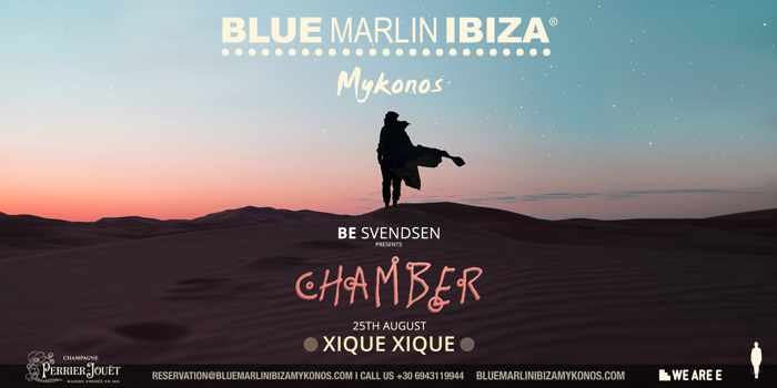 Be Svendsen presents Chamber at Blue Marlin Ibiza Mykonos on August 25