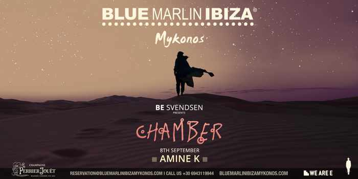 Be Svendsen presents Chamber at Blue Marlin Ibiza Mykonos on September 8