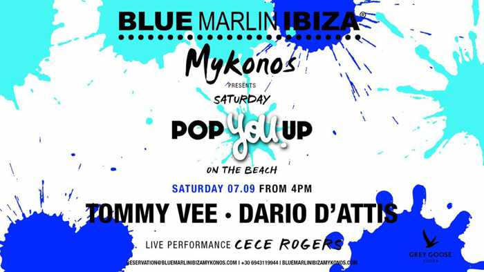Blue Marlin Ibiza Mykonos Pop You Up party September 7