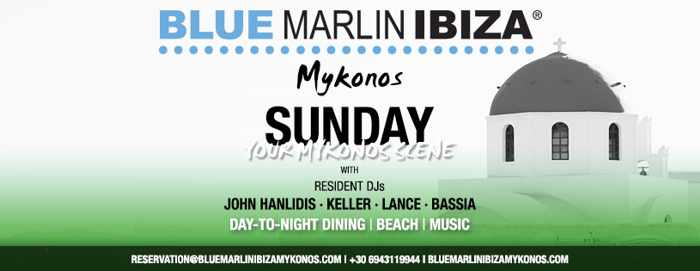 Blue Marlin Ibiza Mykonos Sunday Scene event on September 22