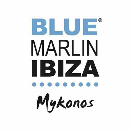 Logo for the new Blue Marlin Ibiza beach club in Mykonos