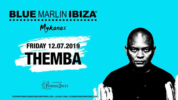 Blue Marlin Ibiza Mykonos club presents Themba on July 12