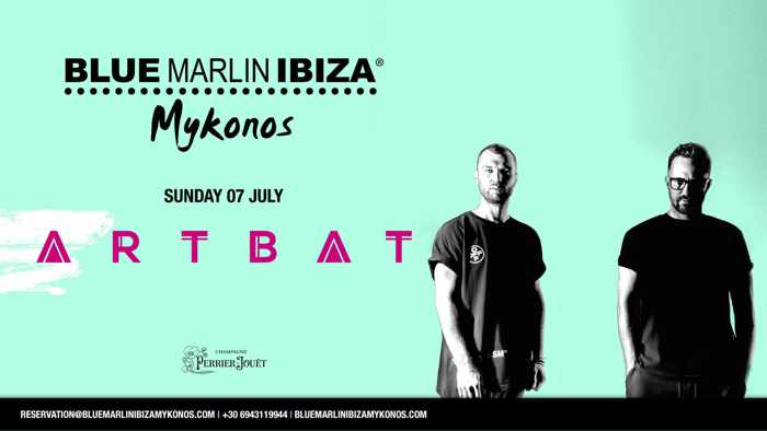 Promotional image for Artbat appearance at Blue Marlin Ibiza Mykonos