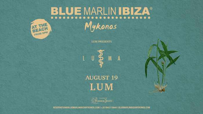 Blue Marlin Ibiza Mykonos presents LUMA by Lum on August 19