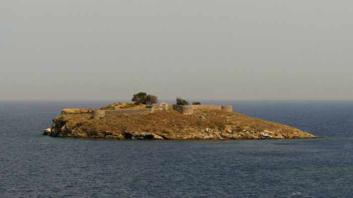 Greece, Greek island, Saronic island, Poros, Poros Greece, Poros island, islet, island, Bourtzi islet Poros, Bourtzi island Poros, fortress, castle, ruins