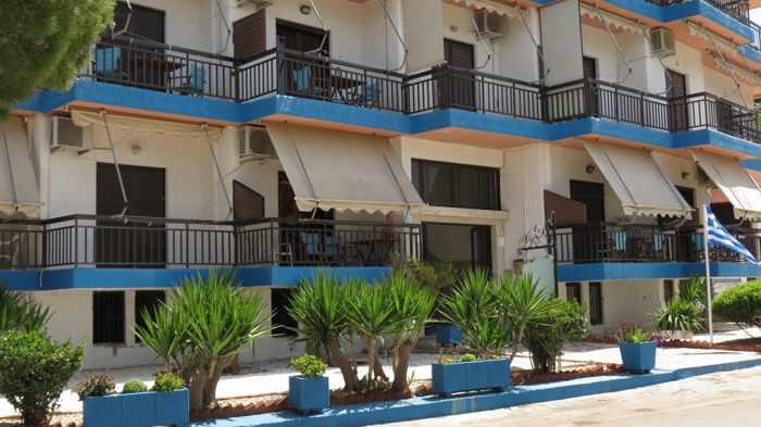 Greece, Greek island, Saronic island, Poros, Poros Greece, Poros island, hotel, Canali Hotel Poros, Canali Beach Hotel Poros, building,
