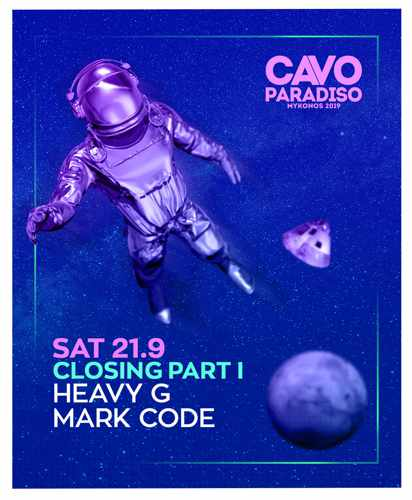 Promotional ad for the Cavo Paradiso Mykonos 2019 season closing party Part 1 on September 21