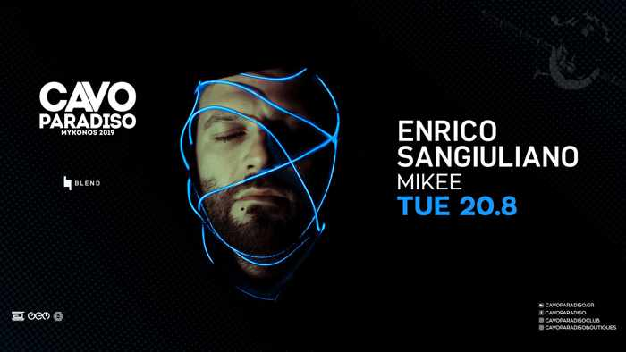 Cavo Paradiso Mykonos August 20 party with Enrico Sangiuliano