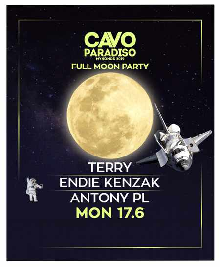 Cavo Paradiso Mykonos June 17 Full Moon Party ad