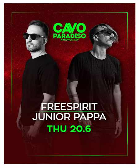 DJs Freespirit and Junior Pappa at Cavo Paradiso Mykonos