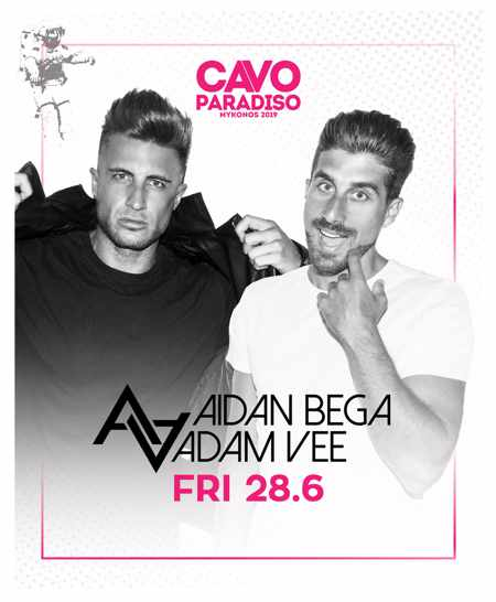 Greece, Greek islands, Cyclades, Mykonos, Mykonos, Mykonos party club, party, nightlife, DJ, Steve Aoki, Cavo Paradiso,Cavo Paradiso Mykonos, Mykonos party club, AidanBega and Adam Vee