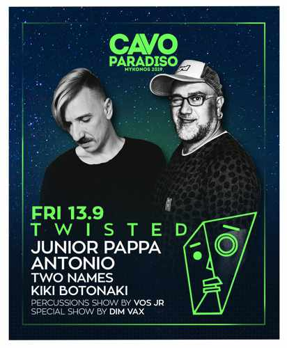 Promo ad for the party at Cavo Paradiso Mykonos on September 13