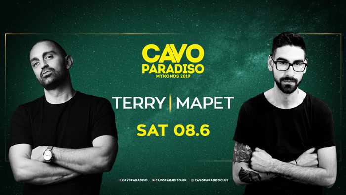 Promotional image for Cavo Paradiso Mykonos party on June 8