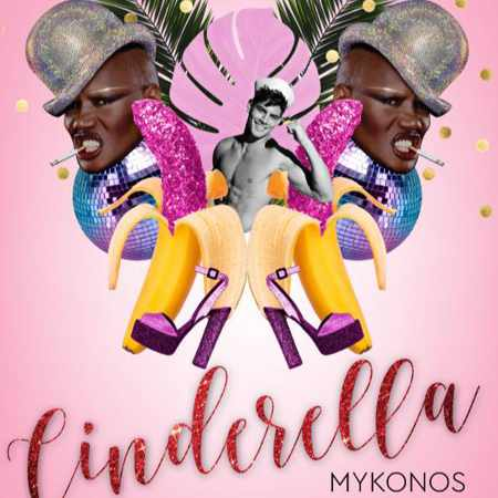 Promotional image for Cinderella nightclub in Mykonos