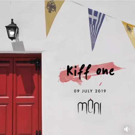 Promotional ad for DJ Kiff One appearance at Moni club on Mykonos July 9
