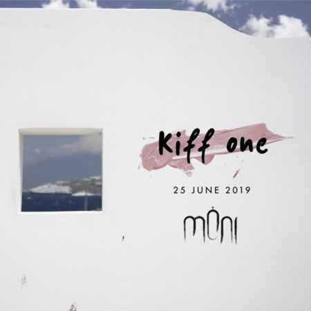 Promotional image for DJ Kiff One show at Moni club on Mykonos