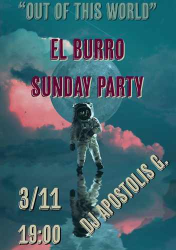 El Burro Mykonos Out of this World Party on November 3