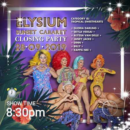 Elysium Hotel Mykonos Sunset Cabaret 2019 closing party announcement