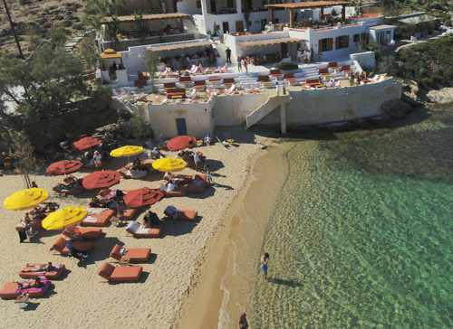 Ftelia Beach Club Mykonos photo from its Facebook page