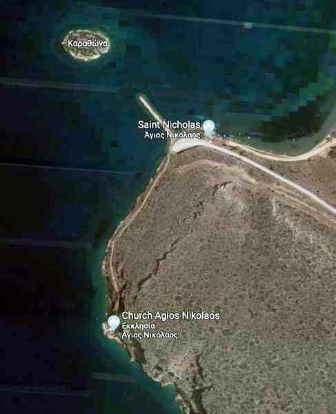 Greece, Peloponnese, Karathona, trail, path, coast, church path, Agios Nikolaos Church Karathona,