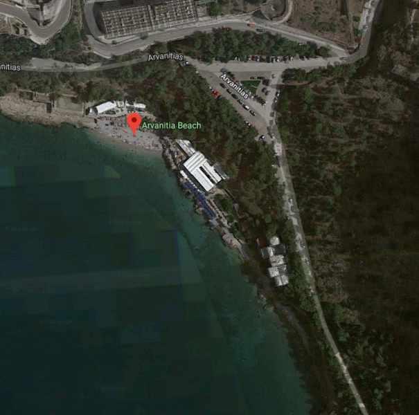 Greece, Peloponnese, Nafplio, Arvanitia beach, Karathona beach path,