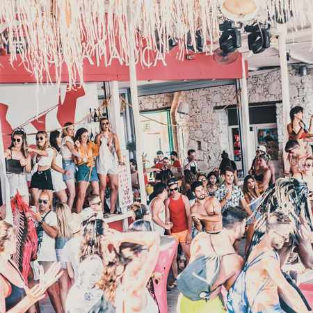 Facebook photo of people partying at Guapaloca Bar at Paradise Beach on Mykonos
