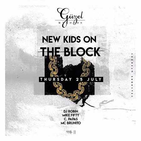 Guzel club Mykonos New Kids on the Block party Thursday July 25