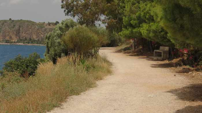 Greece, Peloponnese, Nafplio, Karathona, Karathona path, path, trail, walkway, footpath,