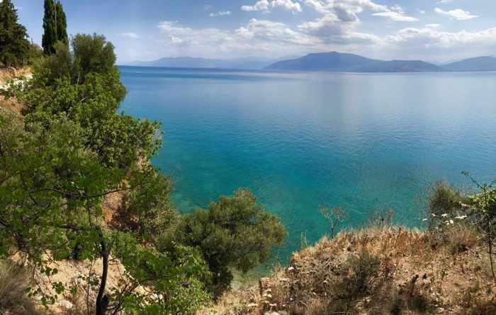 Greece, Peloponnese, Argolida, Nafplio, Argolic Gulf, bay, sea, coast,