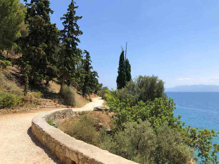Greece, Peloponnese, Nafplio, Karathona path, path, walkway, trail, coast, footpath,