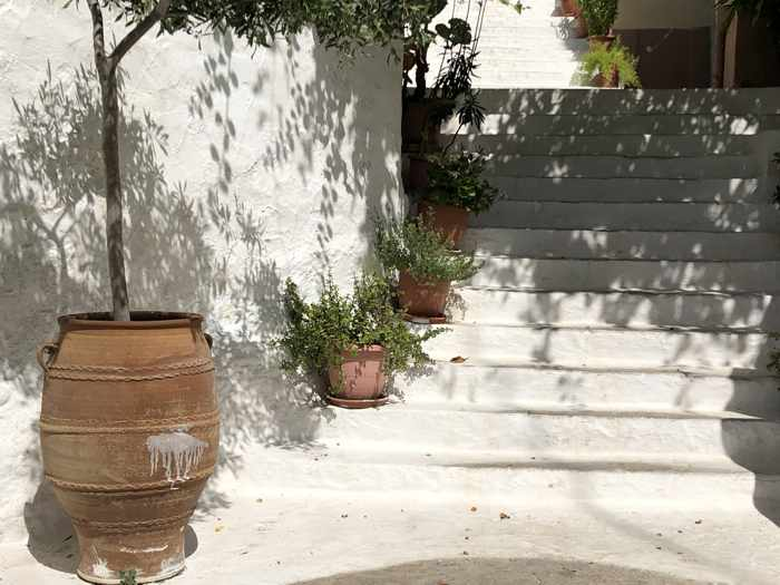 Greece, Greek island, Saronic island, Poros, Poros Greece, Poros island, steps, stairs, lane,