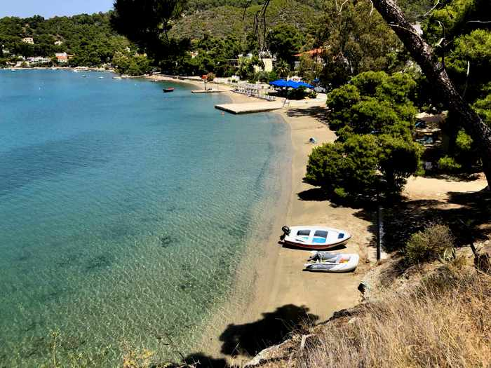 Greece, Greek island, Saronic island, Poros, Poros Greece, Poros island, beach, seaside, coast, shore, Calypso Beach Poros, Megalo Neorio Beach Poros,