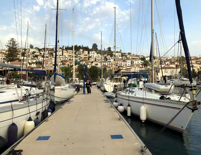 Greece, Greek island, Saronic island, Poros, Poros Greece, Poros island, yacht, boat, ship, children, people,
