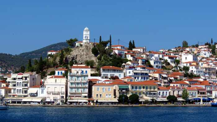Greece, Greek island, Poros, Poros Greece, Poros island, island, town, Saronic islands, Greek island hopping