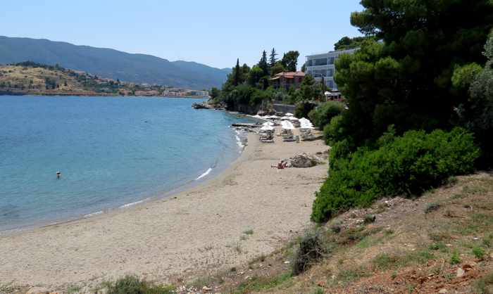 Greece, Greek island, Saronic island, Poros, Poros Greece, Poros island, beach, sand, water, sea, shore, Golden Beach Poros, Askeli Beach Poros,