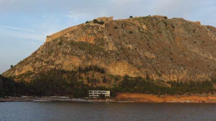 Greece,Peloponnese, Argolida, Nafplio, Palamidi castle, castle, fortress, mountain, peak,