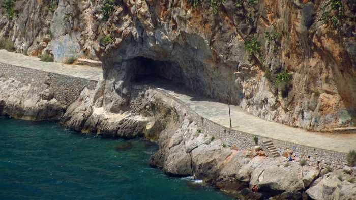 Greece, Peloponnese, Arcadia, Nafplio, coast, seaside, walkway, promenade, trail, Arvanitia, Arvanitia promenade Nafplio, Nafplio coastal walkway, walkway, path,
