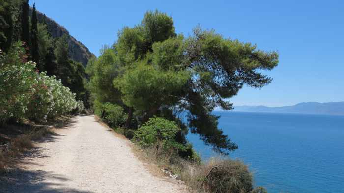 Greece, Peloponnese, Argolida, Nafplio, Karathona, trail, path, coast, seaside,