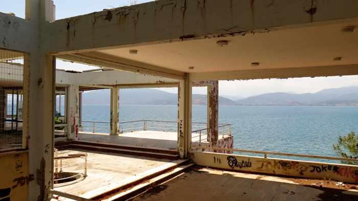 Greece, Peloponnese, Nafplio, Karathona, Arvanitia, building, ruin,